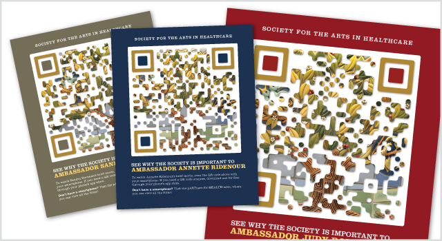Society for the Arts in Healthcare QR poster series