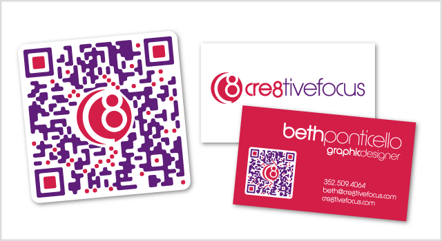 Cre8tiveFocus Branding - QR code and business card