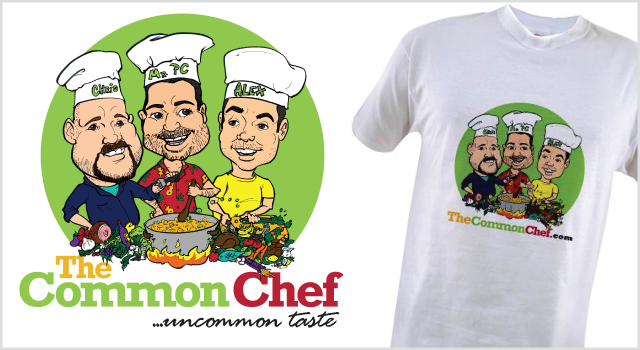 Common Chef branding - t-shirt design