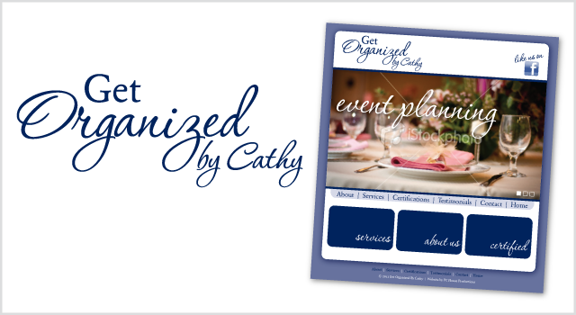 Get Organized by Cathy branding - logo and website look