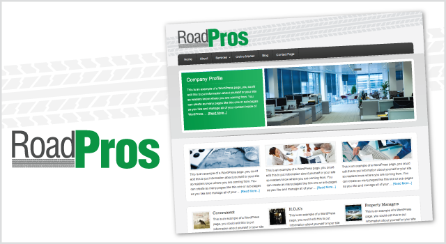 Road Pros branding - logo and web look