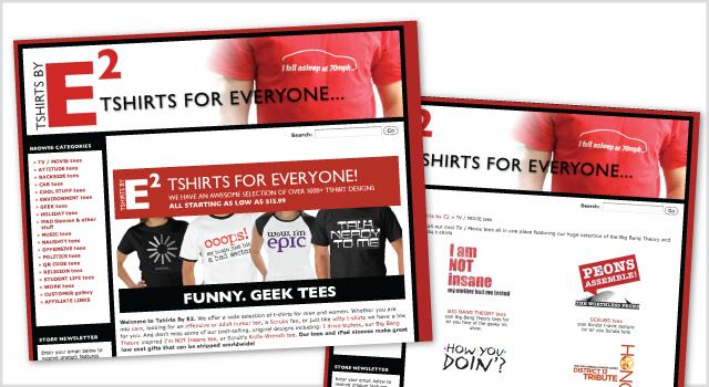 Tshirts By E2 branding – web store