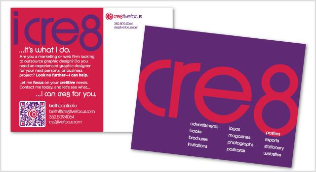 Cre8tiveFocus Branding - postcard